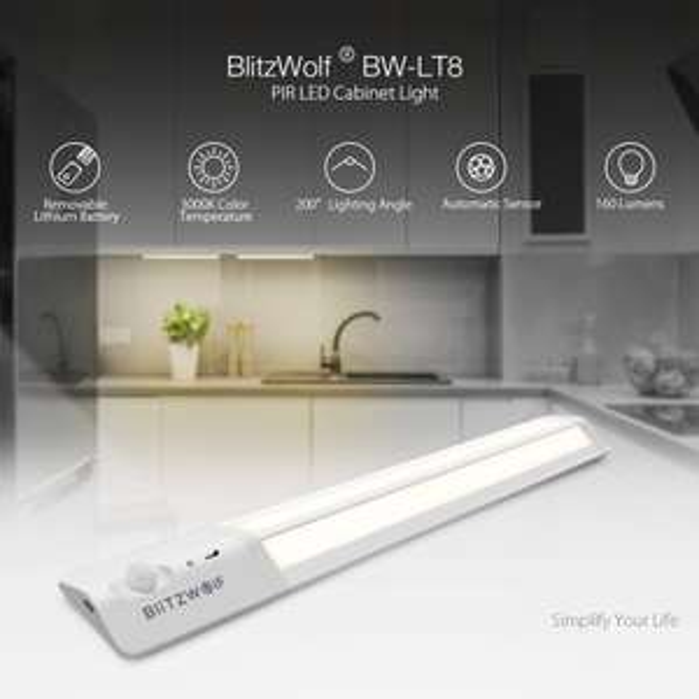 BlitzWolf BW-LT8 Motion Sensor LED Cabinet Light