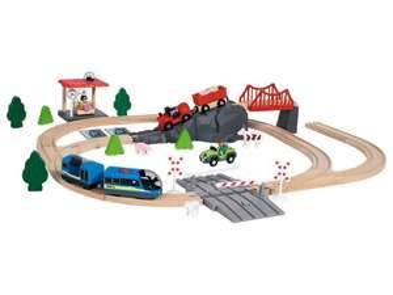 Houten treinbaan