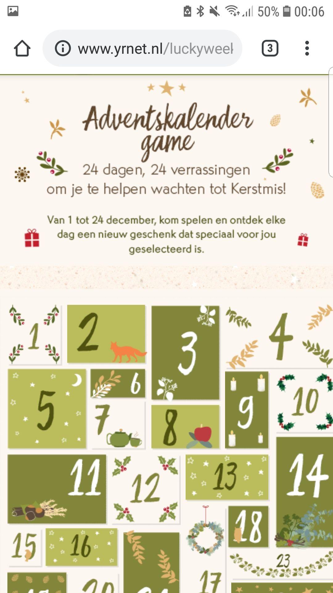 Yves rocher advent kalender spel