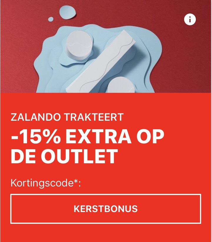 15% extra korting op de outlet van Zalando