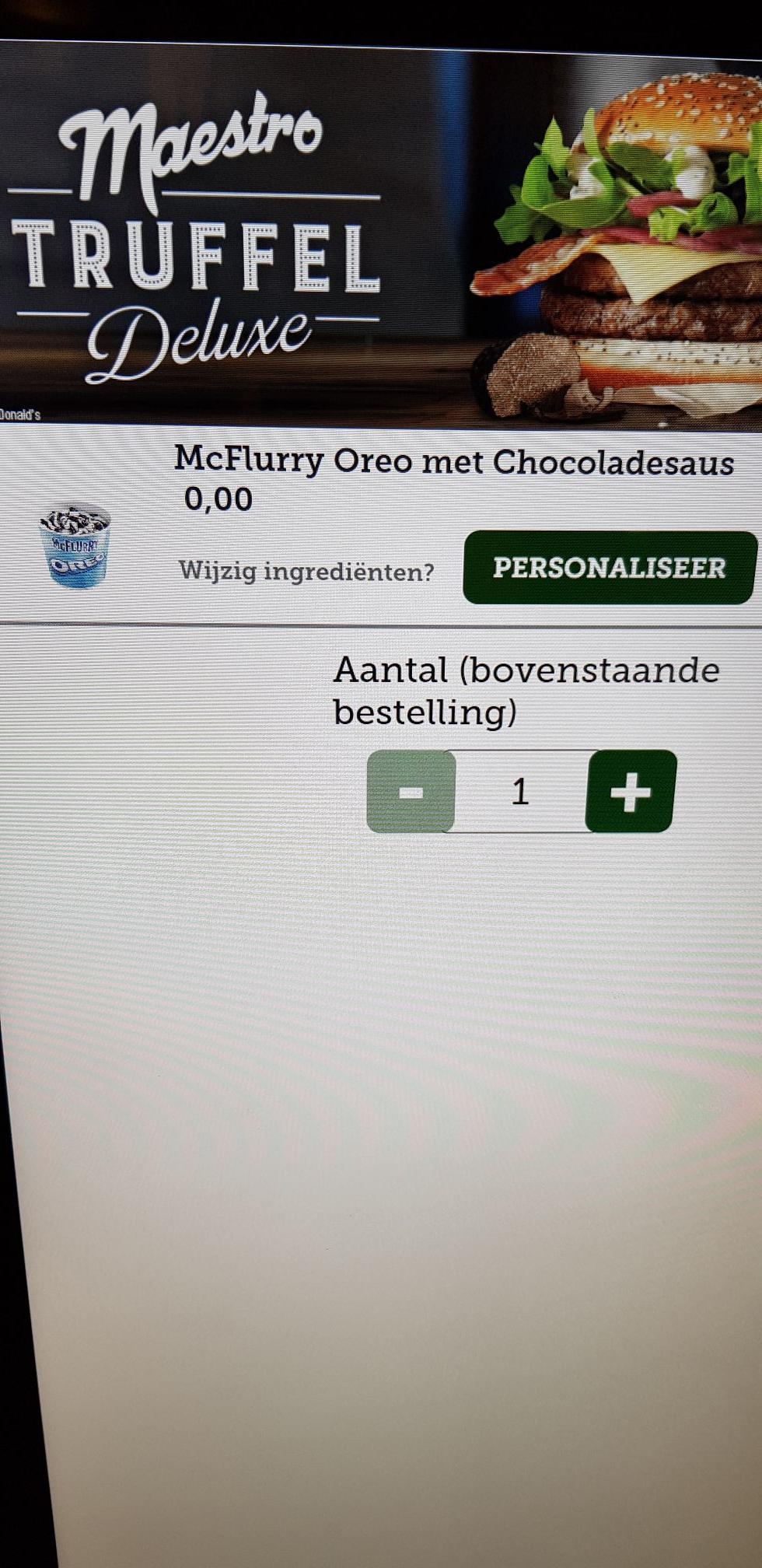 Prijsfout! Gratis McFlurry Oreo+Choc