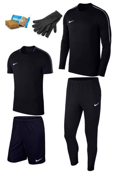 4-delige Nike Academy 18 set + gratis handschoenen + energy bar @ Geomix