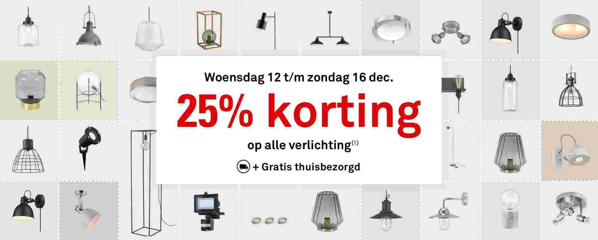 -25% bij karwei op verlichting