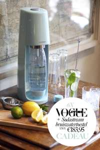 6x Vogue Living+ SodaStream bruiswatertoestel
