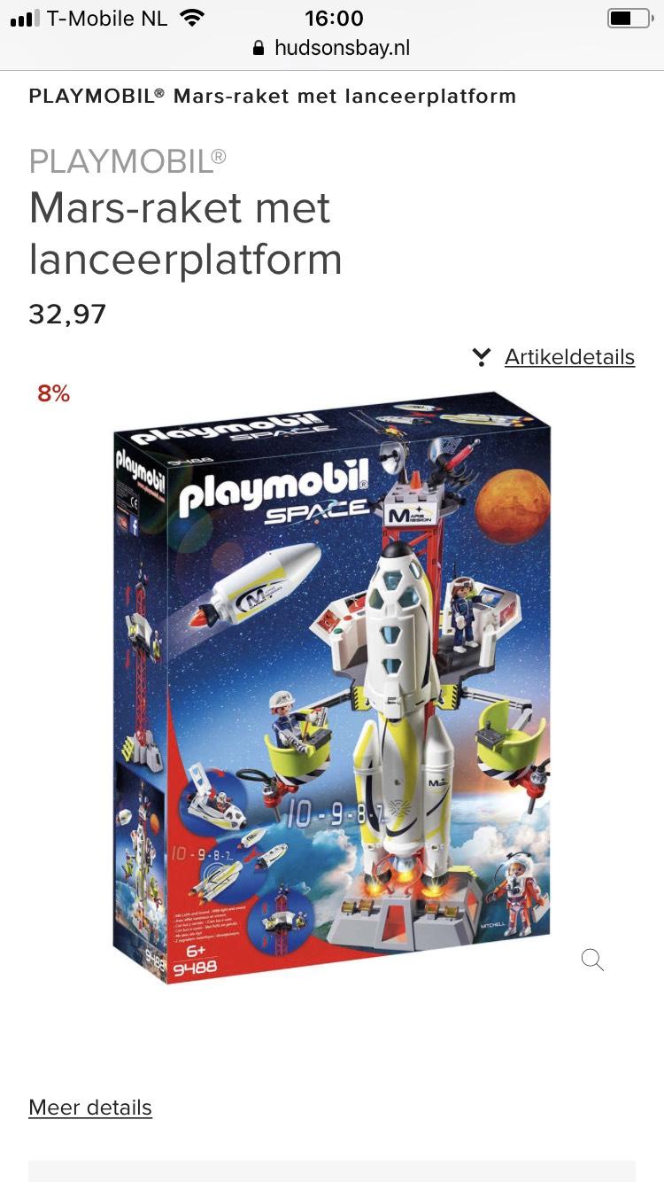 Playmobil Mars-raket met lanceerplatform