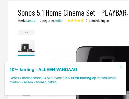 10% Korting op Sonos, Libratone en meer