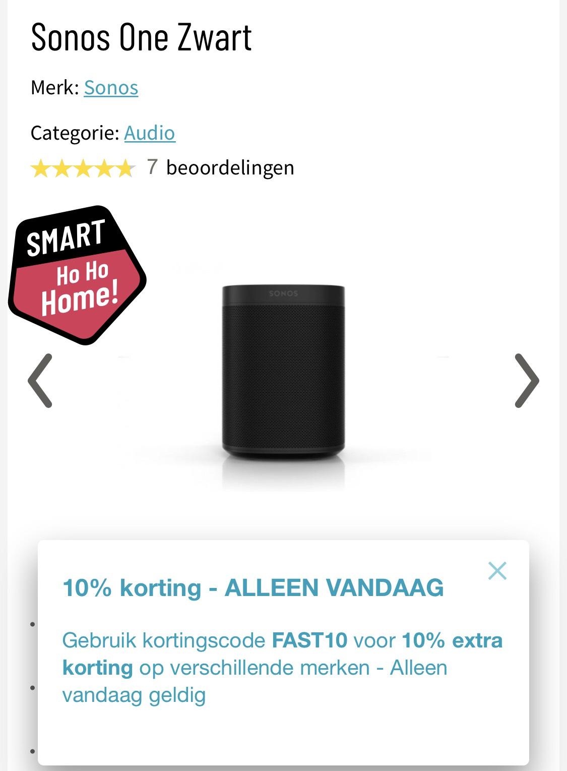 Sonos One voor €172,-