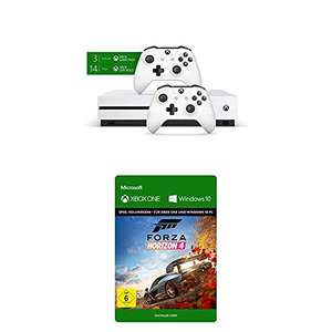 Xbox One S 1TB + 2x controllers + 3 maanden Game Pass + FH4 voor €194,98 @ Amazon.de