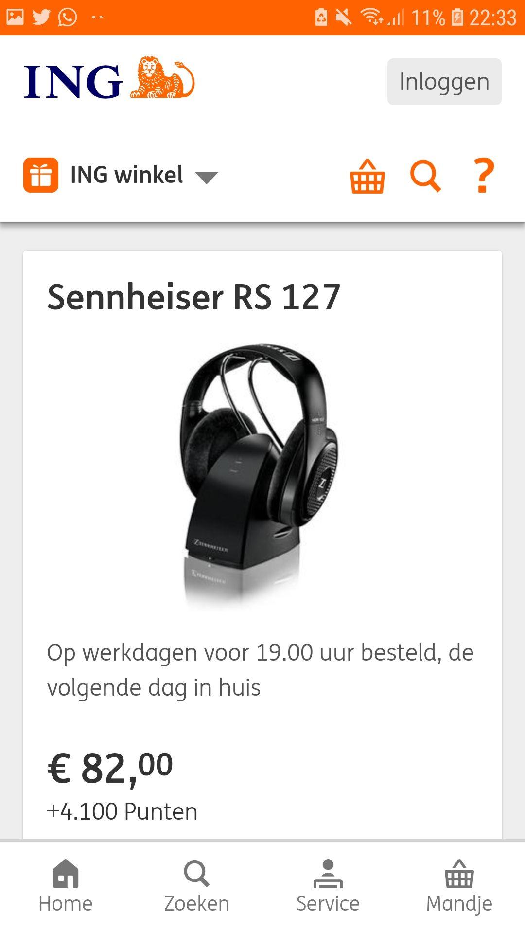 Sennheiser RS127 ING WINKEL