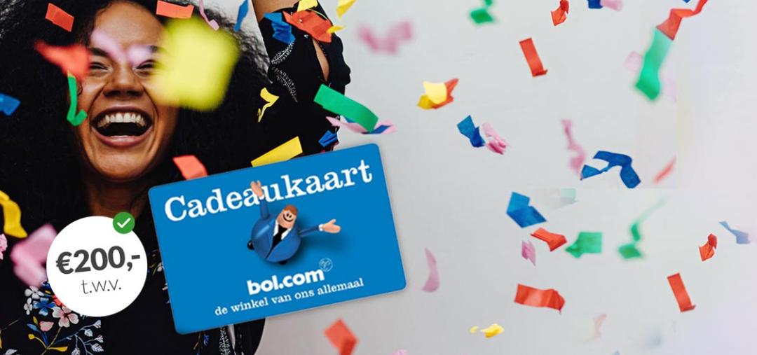 Bol.com cadeaukaart t.w.v. €200 bij 3 jaar groene stroom & gas van Essent