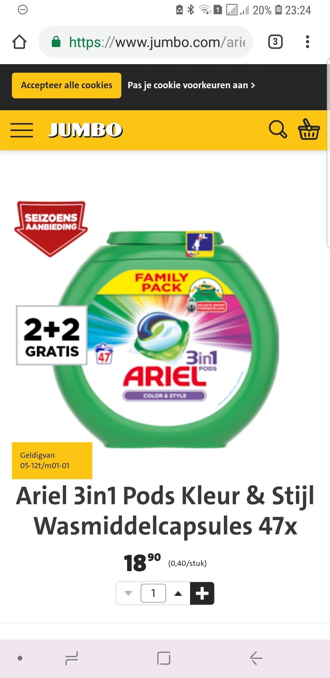 Ariel color & style pods (20cent per pod, bij aanschaf van 4 boxen)