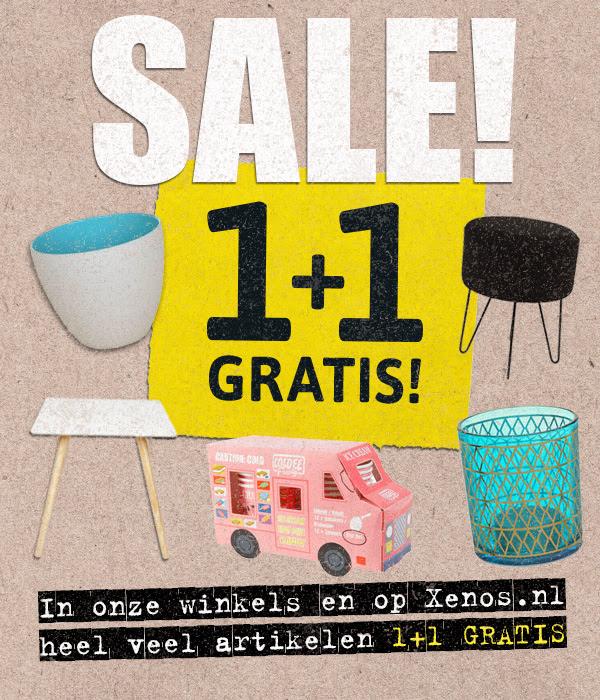 1+1 gratis op veel artikelen + evt. €5 extra korting of 2e gratis diner @ Xenos