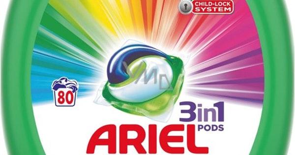 80 st. Ariel 3-in-1 pods color (0,18 per stuk!) + kortingscode