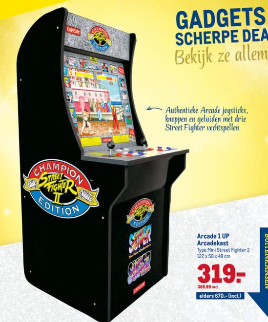 Capcom Streetfighter II arcadekast voor 386eur. -42%. makro.