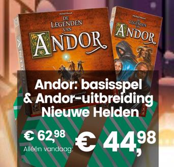 """999games: De Legenden van Andor + de uitbreiding """"Nieuwe Helden"""" voor €44,98"""