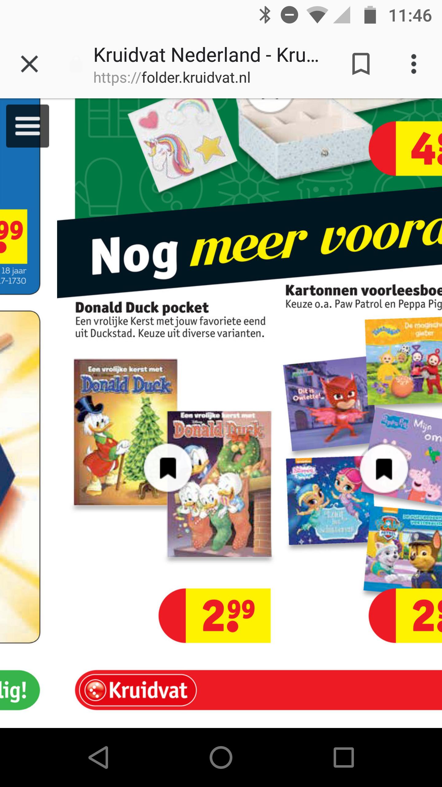 Kerstpocket Donald Duck