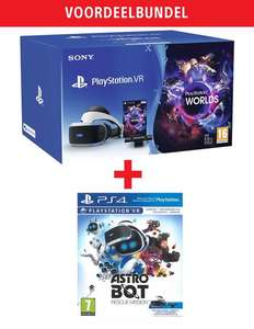 PlayStation VR V2 + Camera New + VR Worlds + Astro Bot: Rescue Mission voor €189