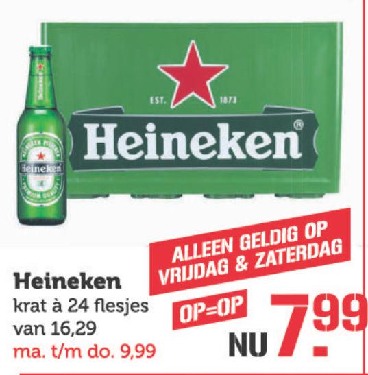 [Lokaal] Heineken krat 24 flesjes €7,99 Coop Paanakker 's-Hertogenbosch