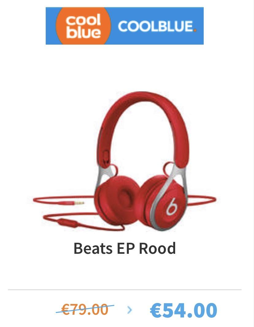 Coolblue aanbieding: Beats EP wit/zwart €55,-
