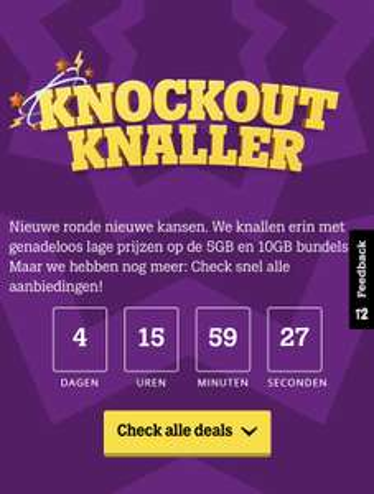 Knockout Knaller bij Tele2 verlengd!