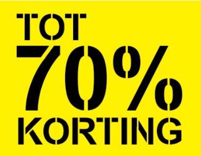 Tot 70% korting in de sale + €5 extra (va €50) @ Scapino