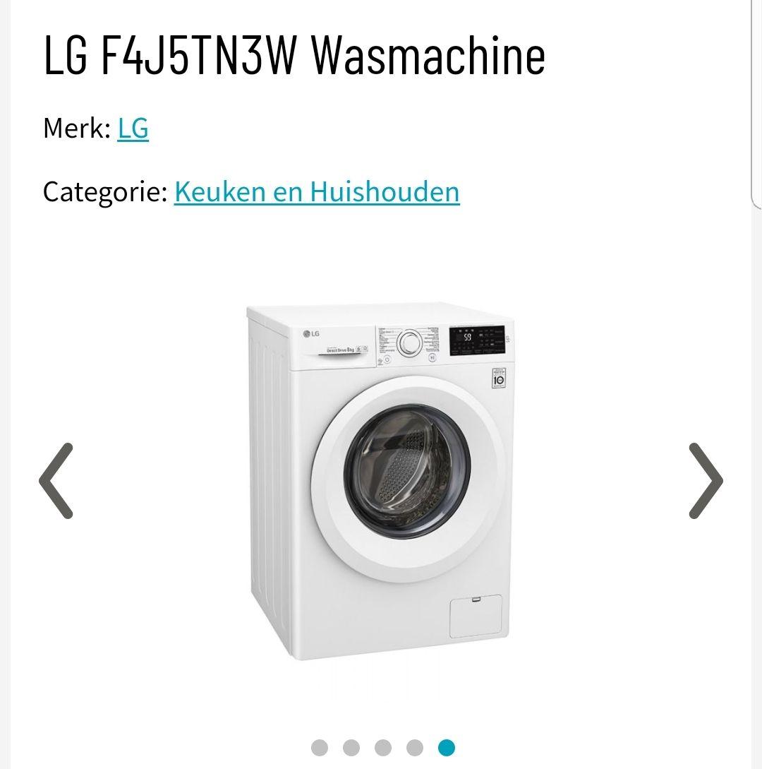 LG F4J5TN3W Wasmachine 8 kg €299