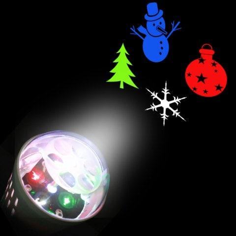 Projecterende LED-lamp met winterfiguurtjes voor €3,52 @ Rosegal.com