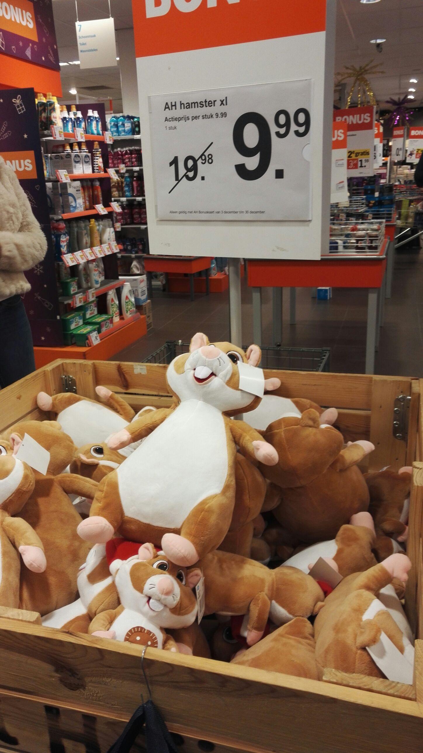 Hamster XL bij AH van 19,95 voor 9,95€