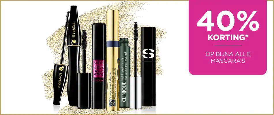 40% korting op bijna alle mascara's bij ICI PARIS XL