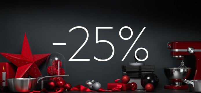 25% Kerstkorting op keukenacessoires en kookgerei @ AEG
