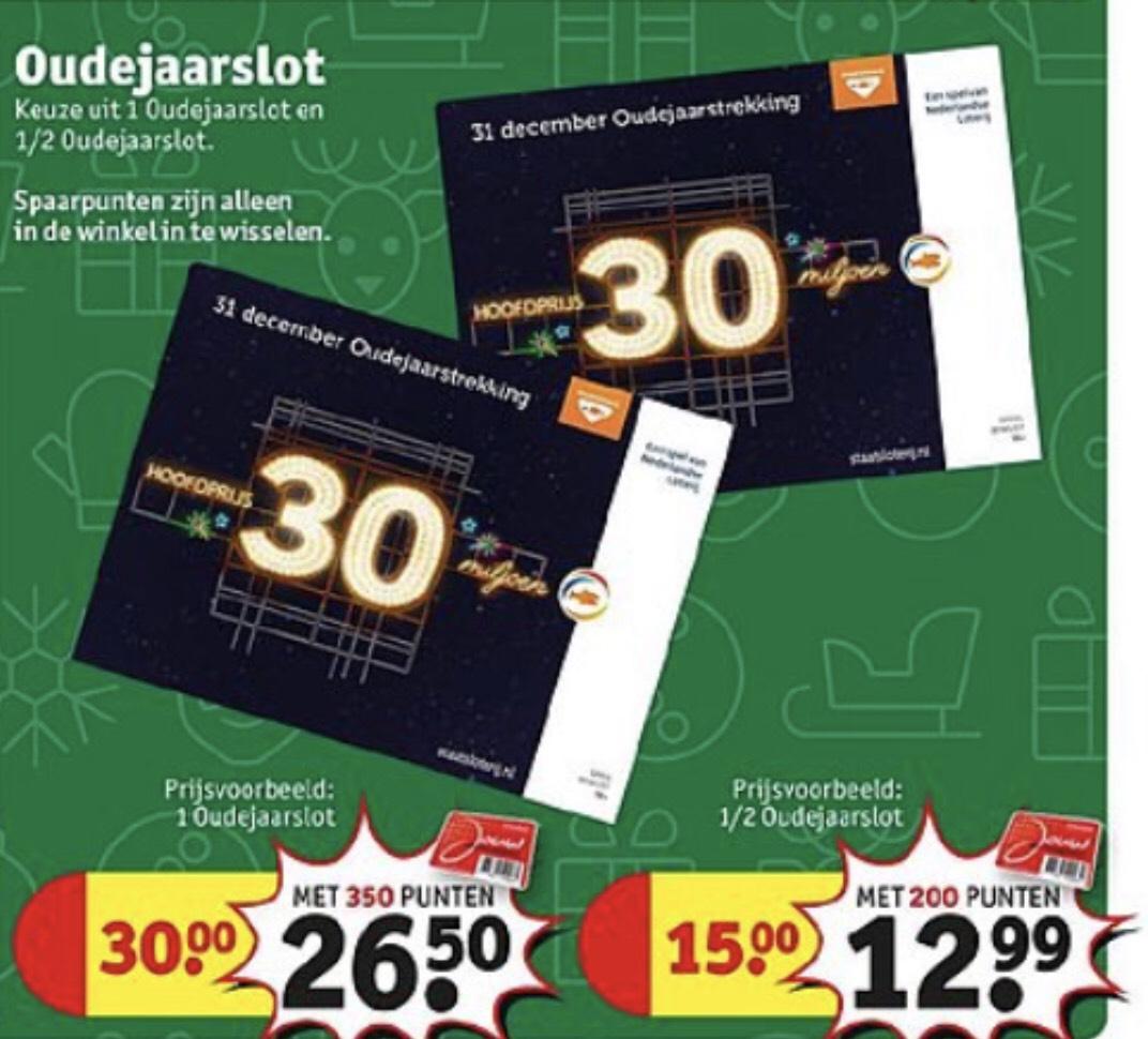 O.a. €2 / €3,50 korting op Oudejaarsloten tegen inwisseling van 200/350 spaarpunten @Kruidvat