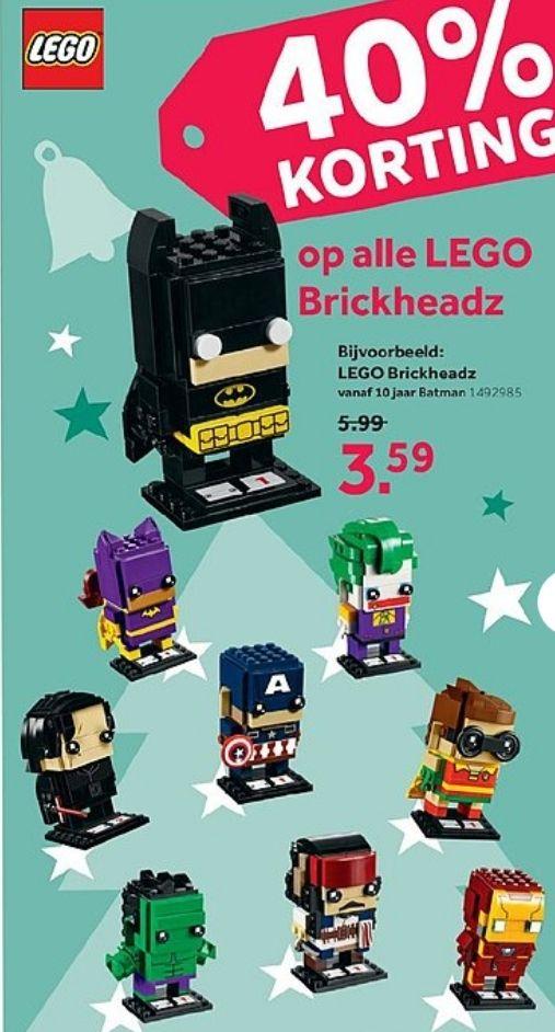 @Intertoys, 40% korting op alle lego brickheadz