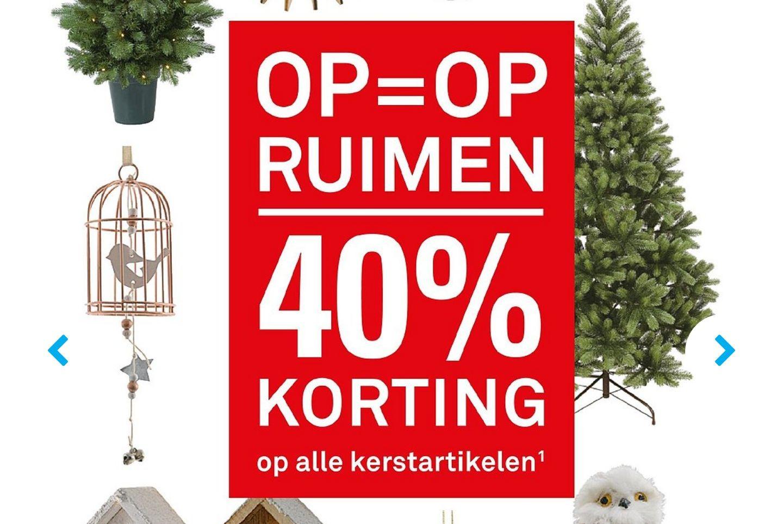 Korting op alle kerstartikelen -40% @KARWEI