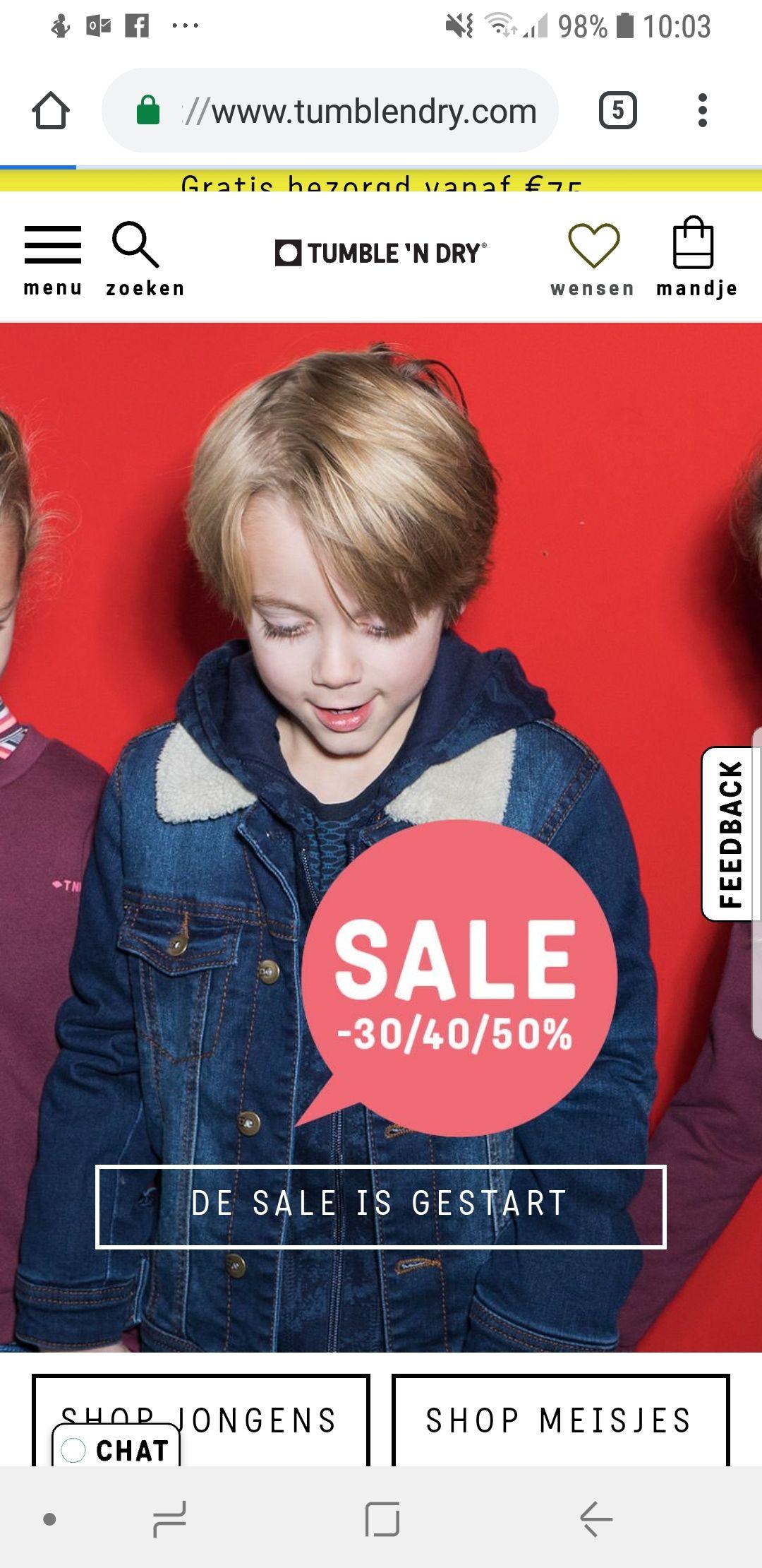 Tumble 'n Dry sale 30/40/50%