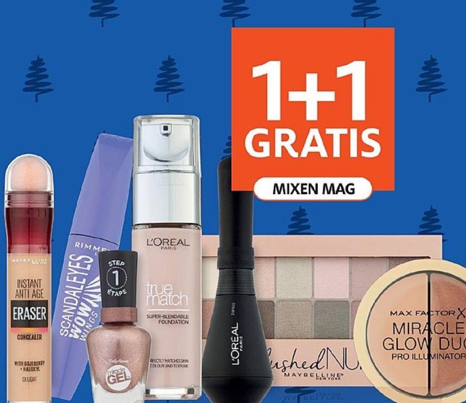 Kerstknaller: Alle make-up 1+1 gratis @Etos