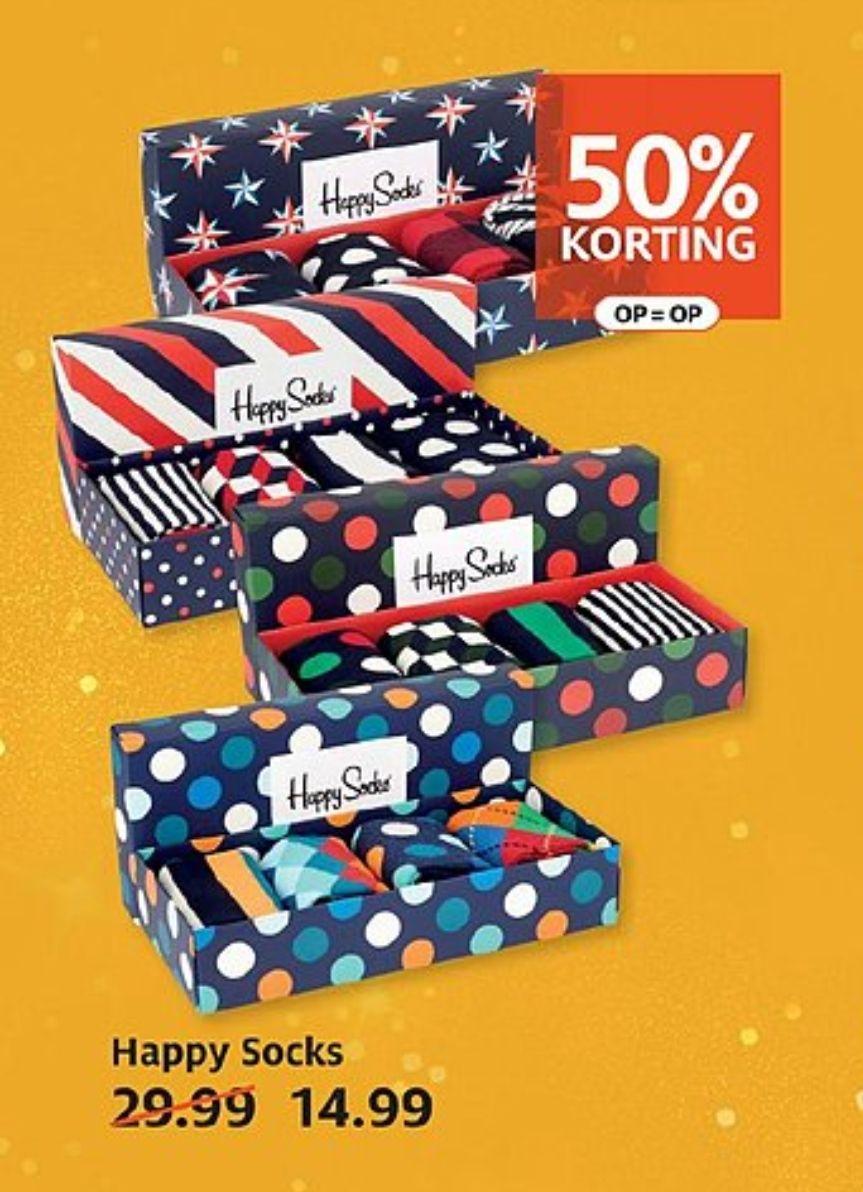 50% korting   Happy Socks (was: €29,99) @Etos