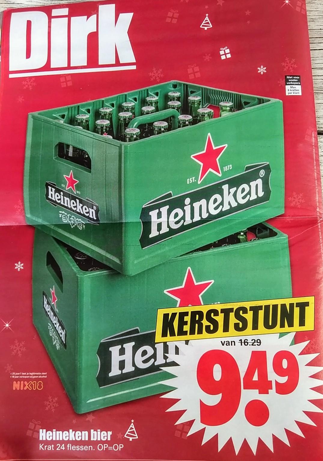 Krat Heineken bier bij Dirk