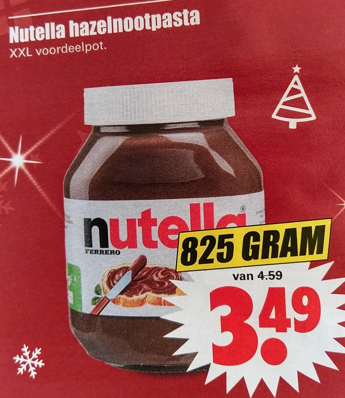XXL Nutella hazelnootpasta bij Dirk