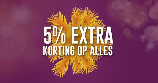 5% extra korting op alles bij Futurumshop, geen minimum bedrag!