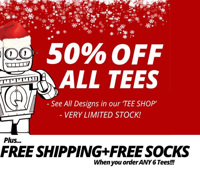 Qwertee - 50% korting op geek/fan t-shirts
