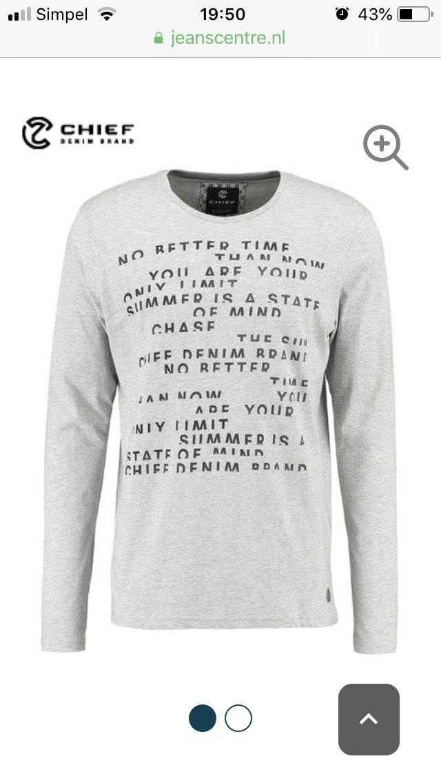 Heren T-shirt lange mouwen
