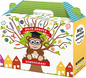 Gratis schoolbox voor kindjes die naar groep 1 gaan.