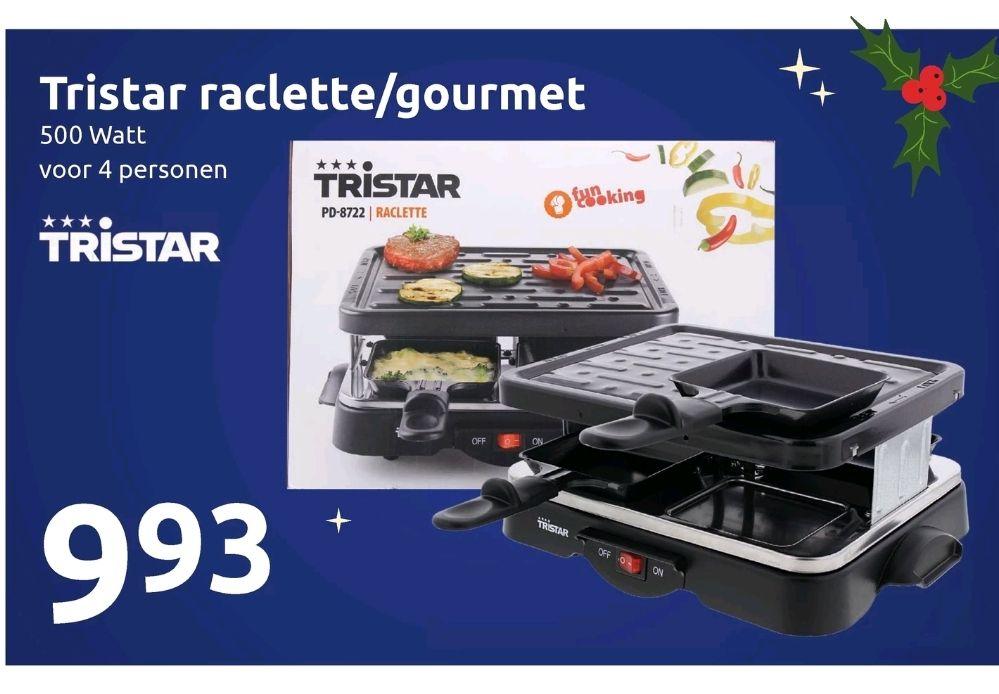 Tristar raclette/gourmet bij de Action      Goedkoper gourmetten kan niet!