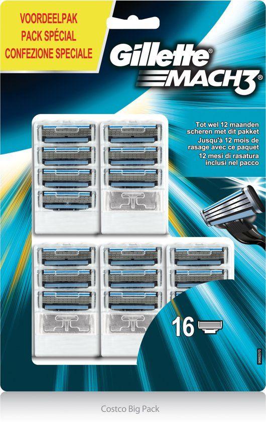16 x scheermes navul Gillette Mach 3 voor maar €23,90 bol.com