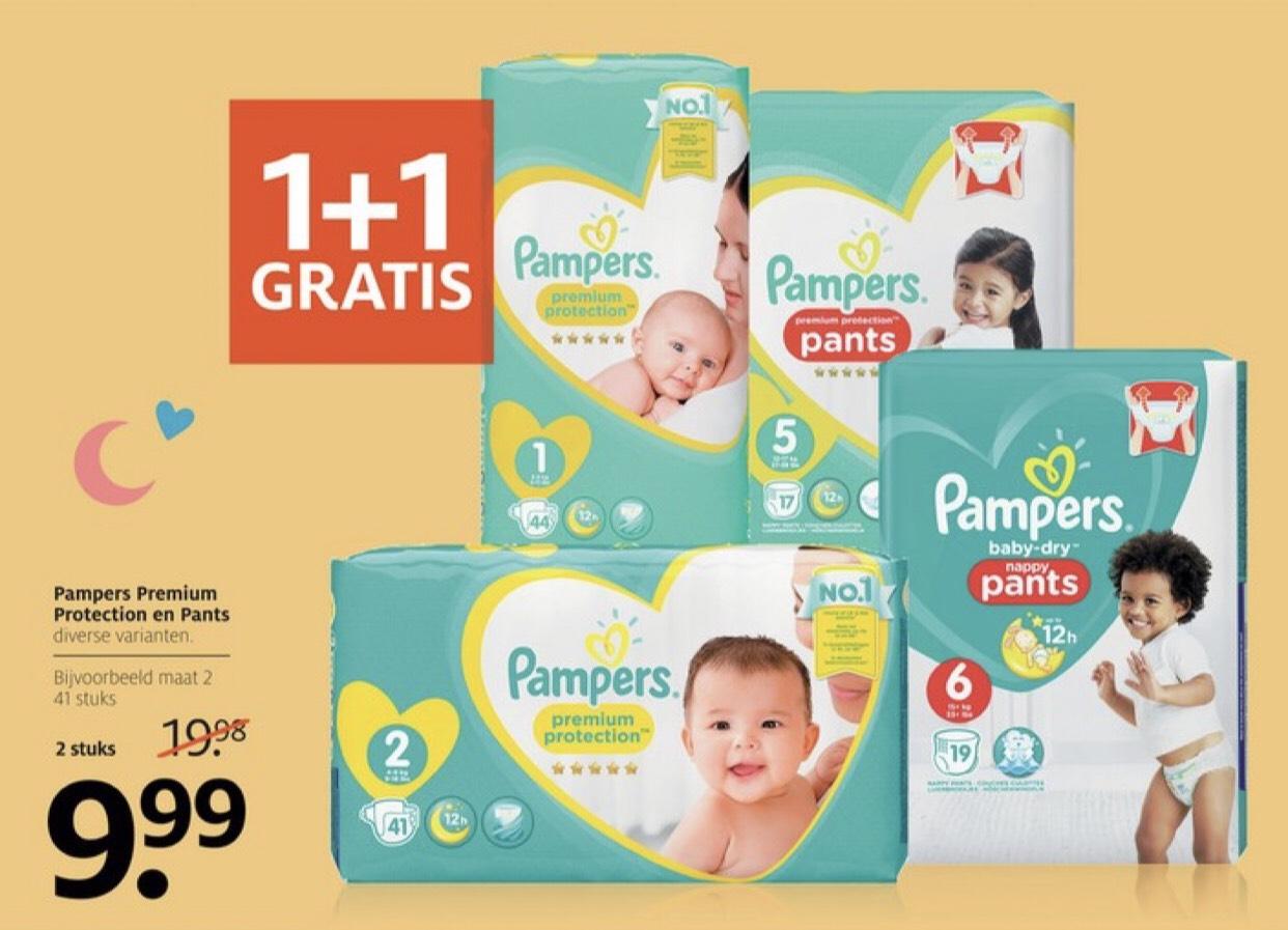 Pampers Premium Protection & Pants 1+1 gratis @Etos
