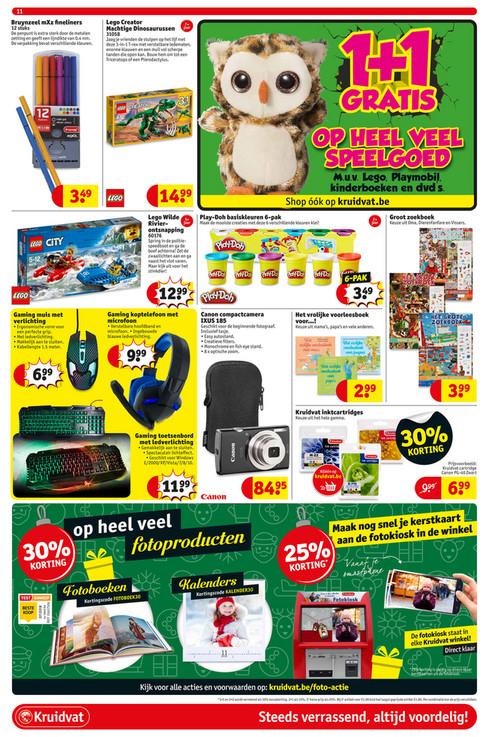 Kruidvat België: 1+1 gratis op speelgoed (excl. Lego - Playmobil)