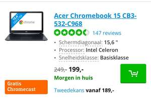 Gratis Chromecast bij Acer Chromebooks op Coolblue.