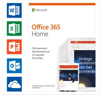 Microsoft Office 365 Home - 6 apparaten / 1 jaar