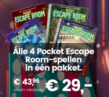 999games: vier Pocket Escape Room-spellen voor €29