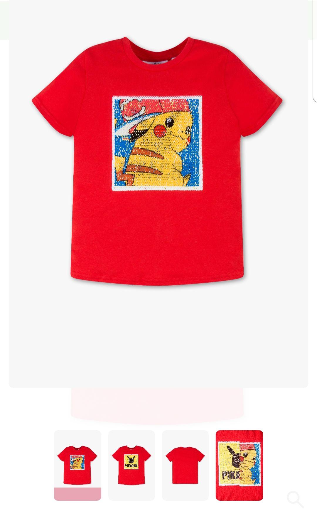 C&A Pikachu t-shirt maat 110 en 116